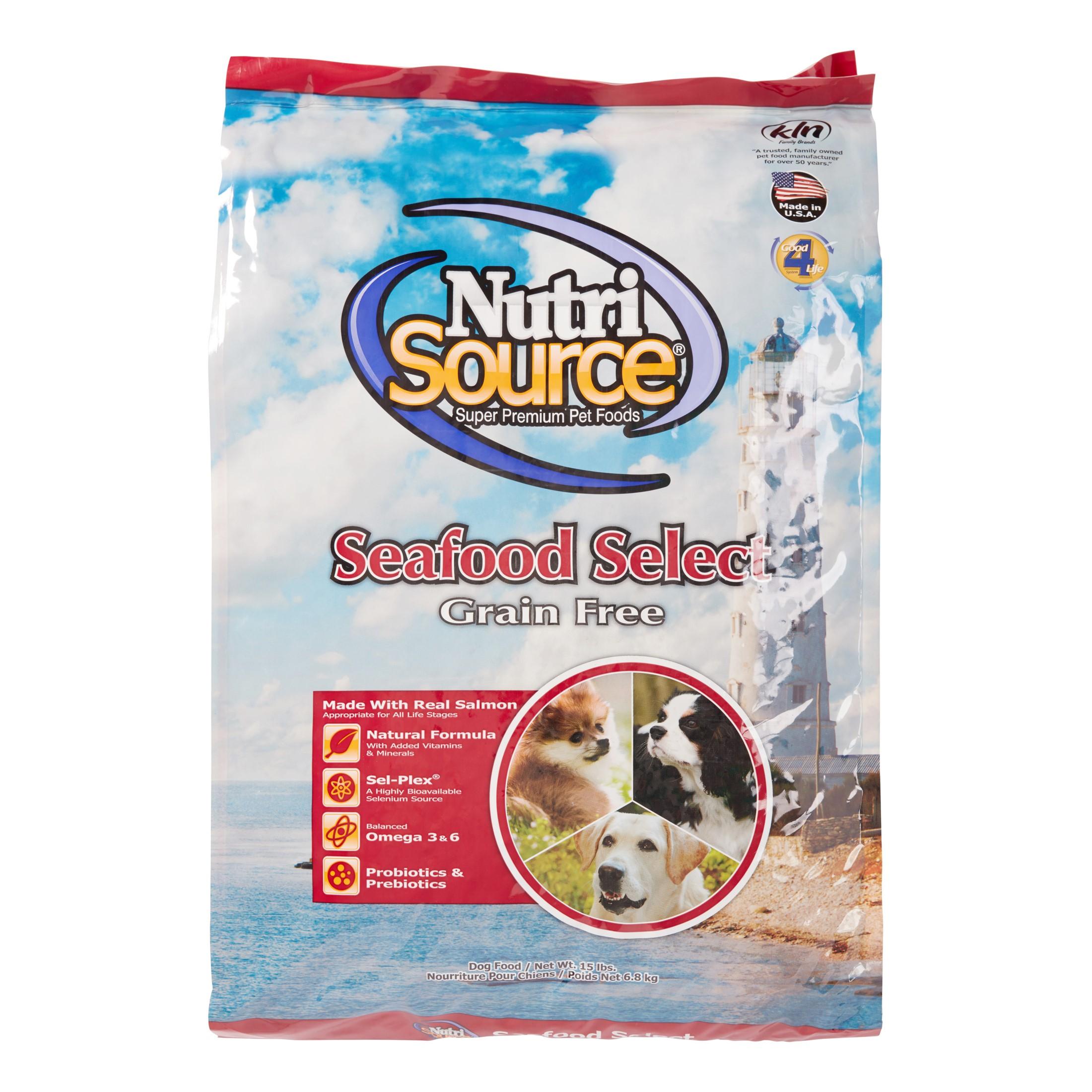 NutriSource Grain-Free Seafood Select Dry Dog Food, 15 lb