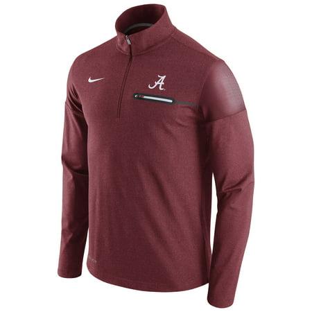 Alabama Crimson Tide Nike Elite Coaches Dri-FIT 1/2 Zip Jacket - Crimson -