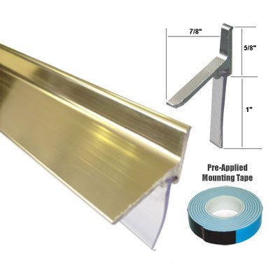 Gold Framed Shower Door Replacement Bottom Deflector With