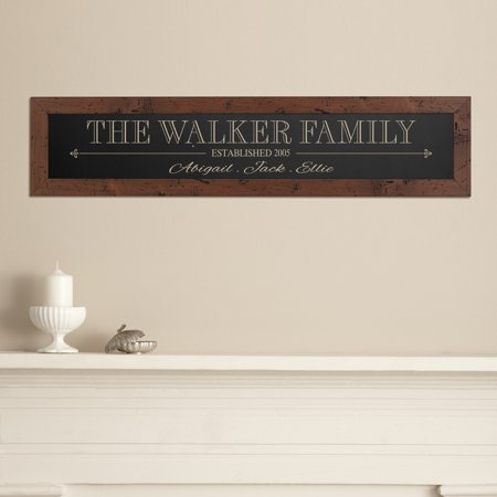 Personalized The Whole Family Framed Wood Sign - Black](Personalized Family Signs)