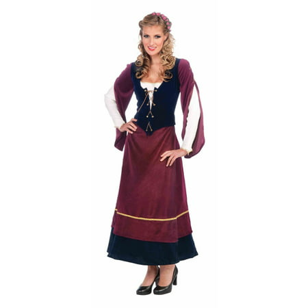 Womens Medieval Wench Adult Halloween Costume (Medieval Woman Costume)