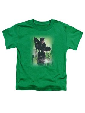 Batman-Catwoman No. 63 Cover - Short Sleeve Toddler Tee - Kelly Green, Medium 3T
