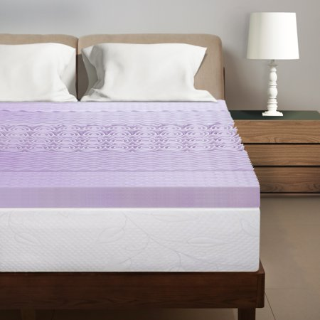 Best Price Mattress 3 Inch 5 Zone Topper with Lavender infused