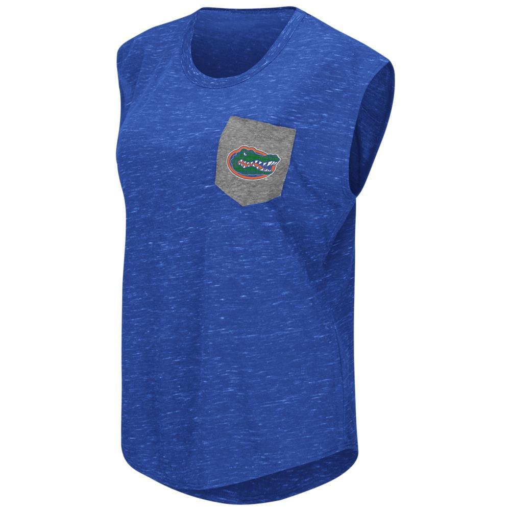 University of Florida Gators Ladies Pocket Tee Heathered Vintage T-Shirt