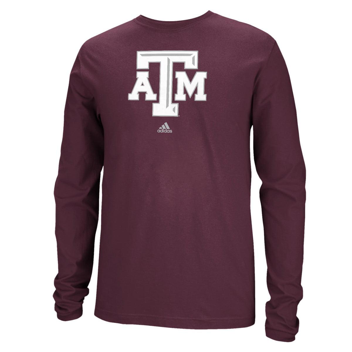 "Texas A&M Aggies Adidas NCAA ""School Logo"" Men's Long Sleeve T-shirt"