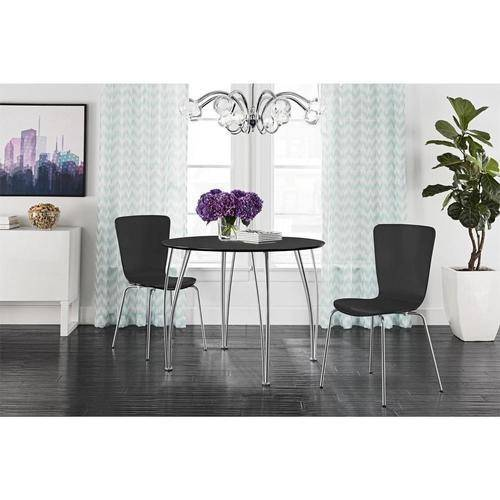 Shell Bentwood Round Dining Table Black Walmartcom