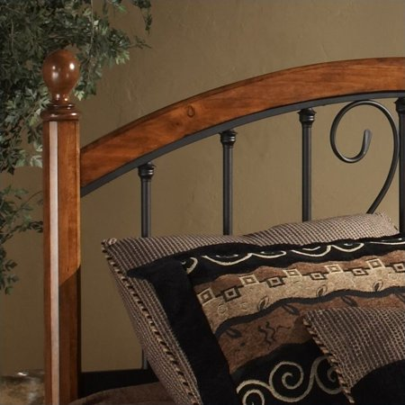 Hillsdale Burton Way Spindle Headboard in Cherry and Black-King - image 1 of 2