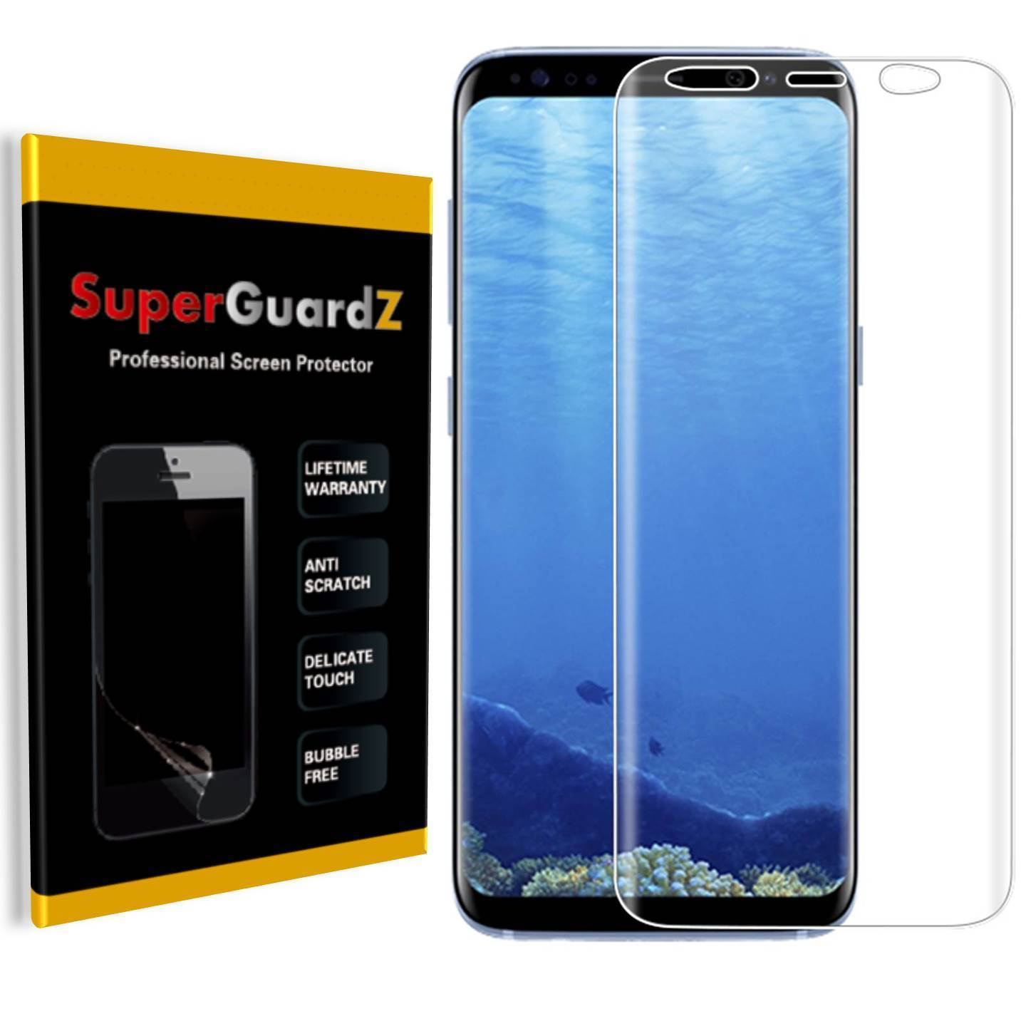 [3-Pack] For Samsung Galaxy S9 - SuperGuardZ [FULL COVER] Screen Protector, HD Clear, Military Grade TPU Film, Anti-Scratch