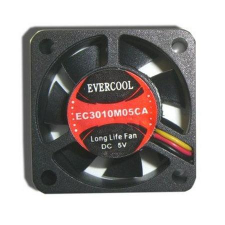 Evercool 30mm x 10mm 5 volt fan with 3 pin connecter # EC3010M05CA