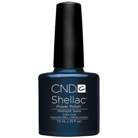 CND Creative Nail Design SHELLAC Gel Polish .25oz/7.3mL - Midnight Swim - Shellac Nail Art Halloween