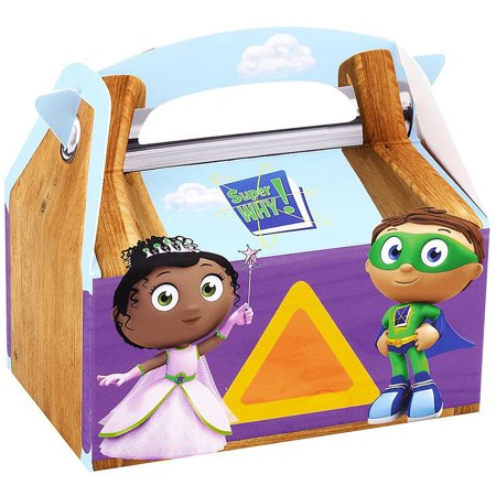 Super Why! Empty Favor Boxes, 4pk](Super Bowl Favors)