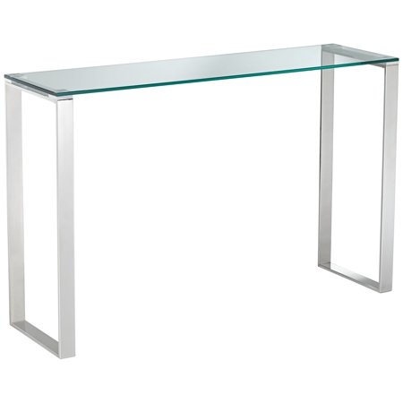 """Studio 55D David 47 1/2"""" Wide Steel And Glass Modern Console Table"""