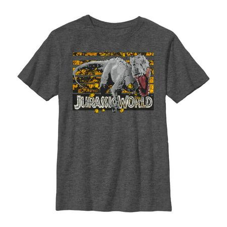 Jurassic World Boys' Rock Grid Dinosaur T-Shirt - Grim Apparel