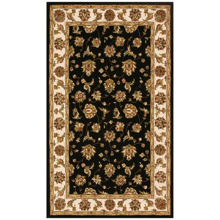 Dynamic Rugs Jewel 70231 Herati Persian Rug - Black/Beige