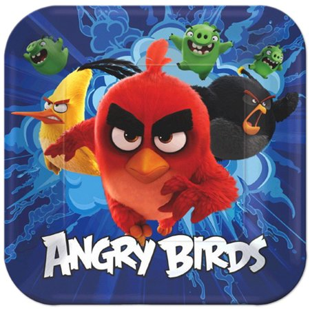 Angry Birds Movie Large Paper Plates (8ct) (Game Bird Plate)