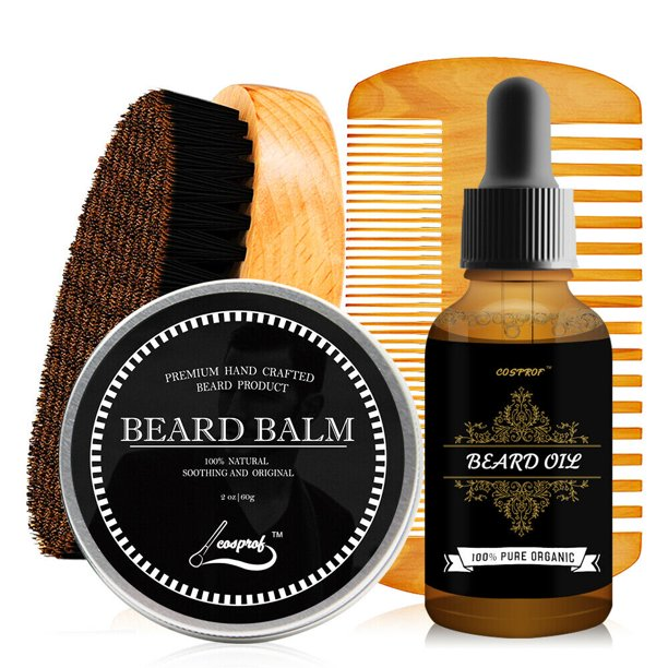Beard Grooming & Trimming Kit for Men Care - Beard Oil & Balm,Beard Comb & Brush Gift Set