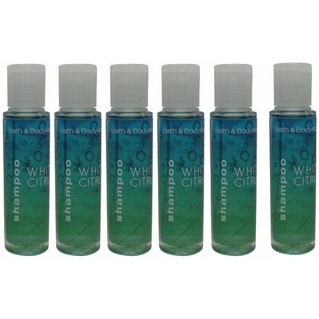 Citrus Shampoo - Bath & Body Works White Citrus Shampoo Lot of 6 Each 0.75oz Bottles Total 4.5oz