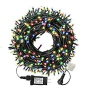 105ft 300 LED Christmas String Lights, End-to-End Plug 8 Modes Christmas Lights - UL Certified - Outdoor Indoor Fairy Lights Christmas Tree, Patio, Garden, Party, Wedding, Holiday (Colored)