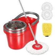 Hapinnex Spin Mop & Self-Balanced Bucket System