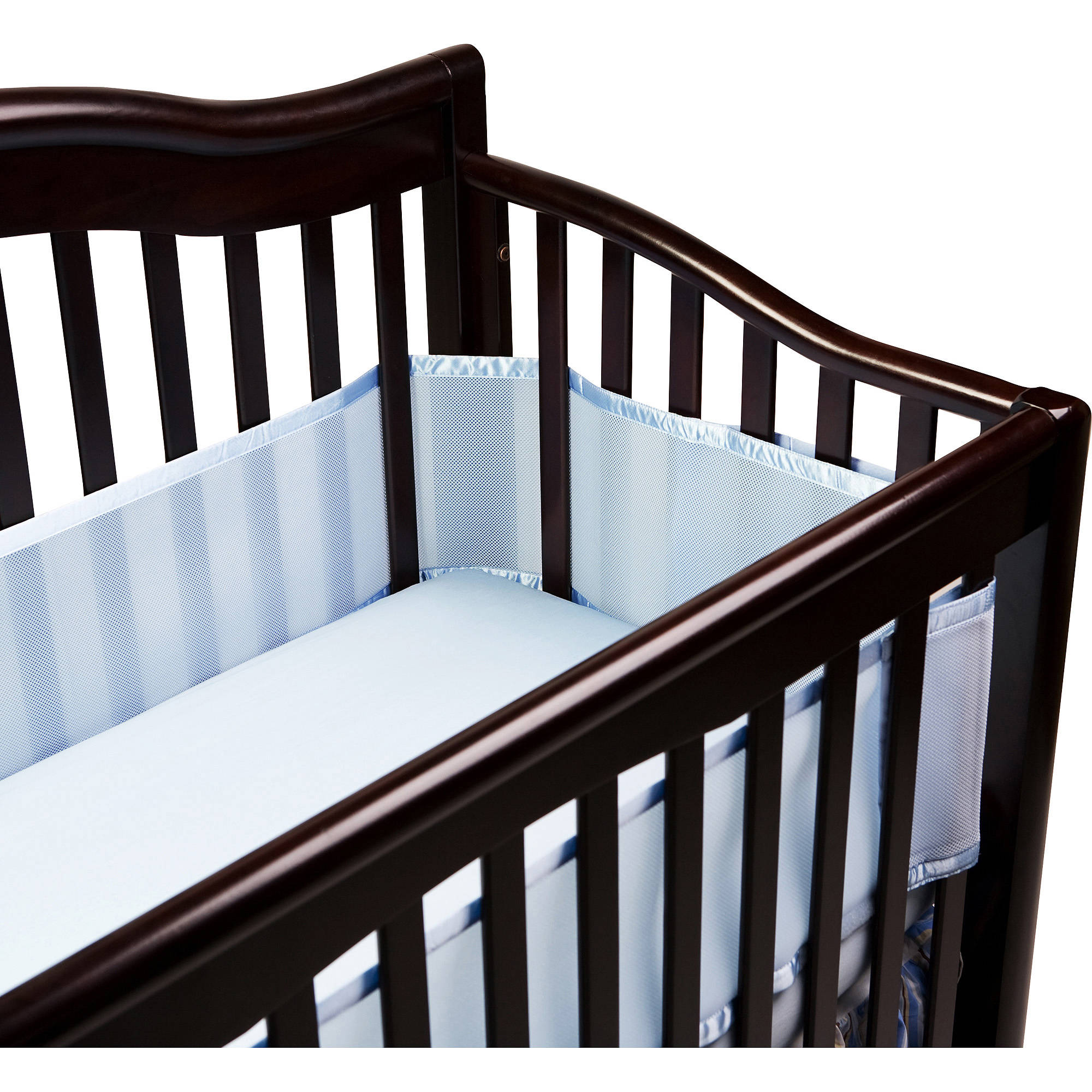 BreathableBaby - Breathable Crib Liner, Fits All Cribs, Blue