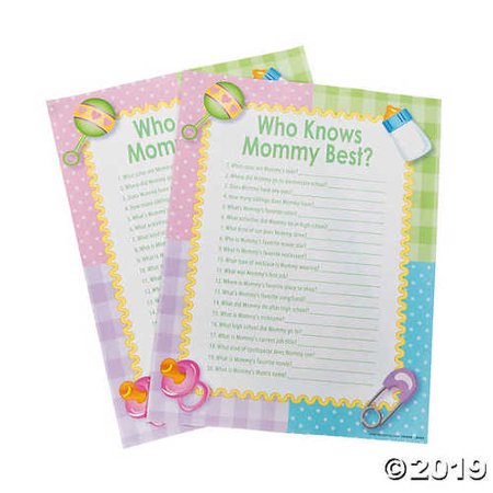 Who Knows Mommy Best Baby Shower Game