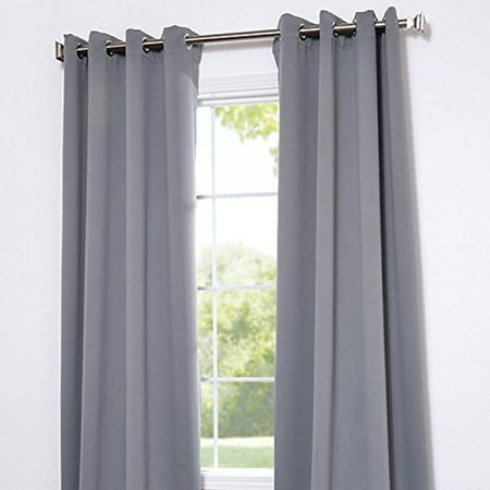 Angel Solid Grommet Blackout Panel Curtain Thermal Size - 84 Inch - - Silver Beaded Curtain