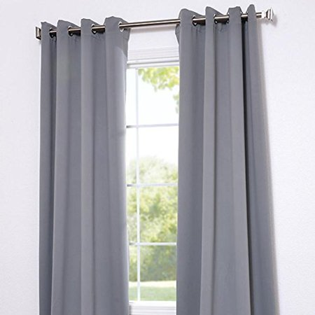 Angel Solid Grommet Blackout Panel Curtain Thermal 108 Inch Silver