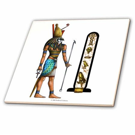 3dRose Horus Egyptian God Pagan Art - Ceramic Tile, 6-inch