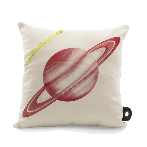 Zoomie Kids Small Saturn Scientist Pocket Pillow