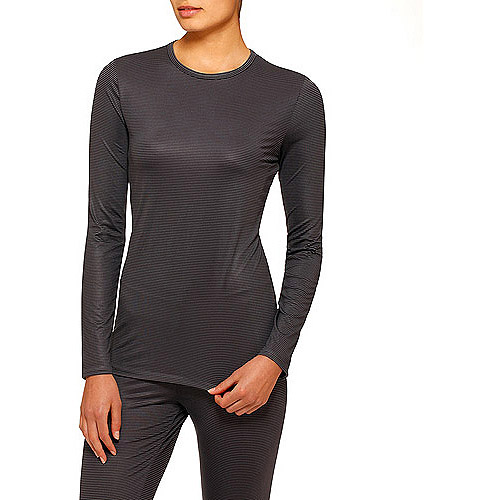 ClimateRight by Cuddl Duds Women's Stretch Microfiber Warm Underwear Longsleeve Top