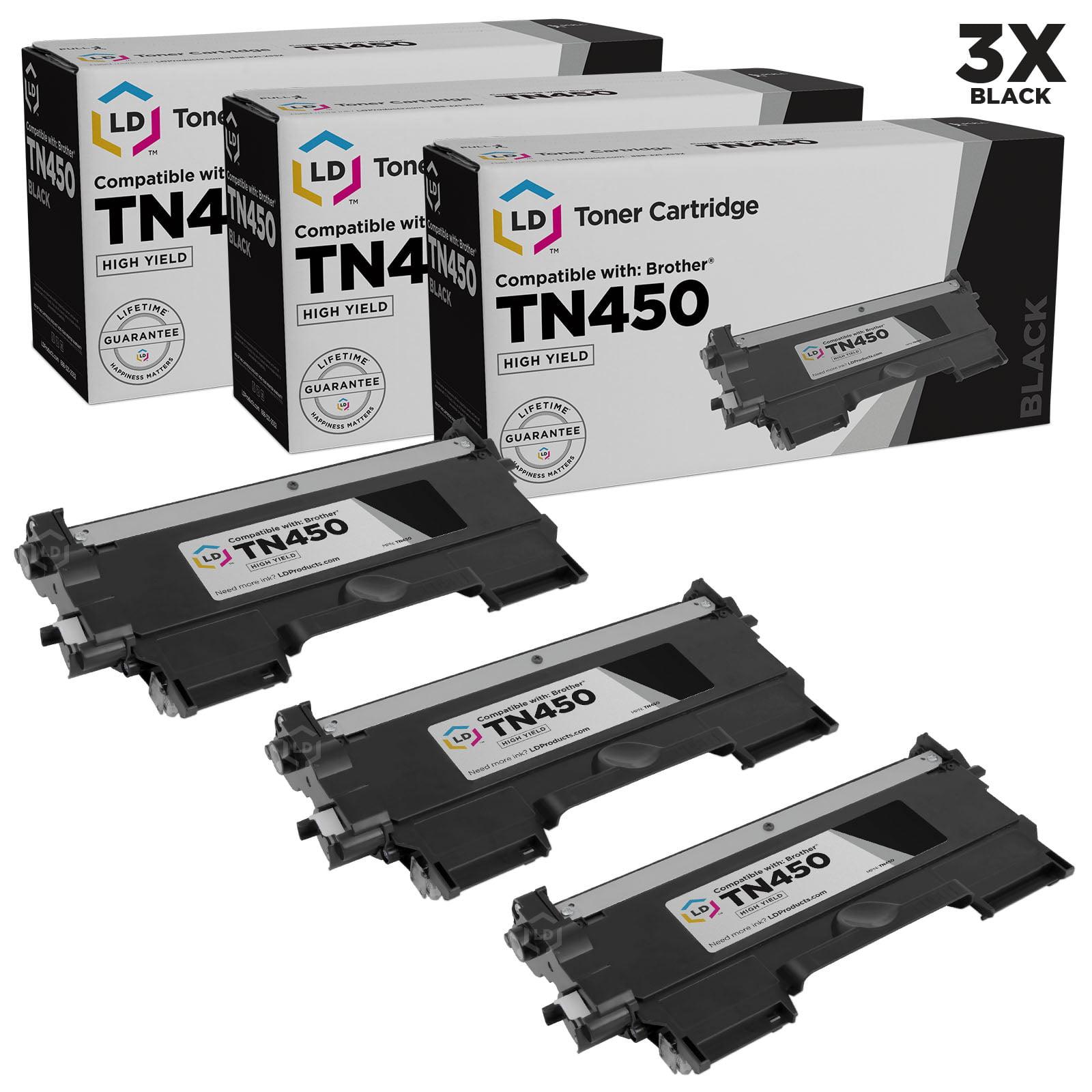 Compatible Brother Set of 3 TN450 High Yield Toner Cartridges TN-450 TN420 TN-420 MFC-7360N HL-2240 DCP-7060D DCP-7065DN HL-2280DW HL-2275DW HL-2270DW HL-2242D Intellifax 2840 2940