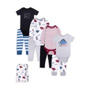 Little Star Organic Baby Boy Star-Pack Mix 'n Match Outfits, 8-Piece Gift Bag Set