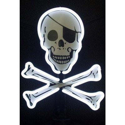Neon Skull Fleece Poncho