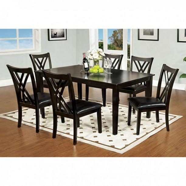 Springhill Enticing 7 Piece Dining Table Set Espresso Walmart Com Walmart Com