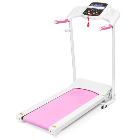 Best Choice Products 800W Portable Folding Electric Motorized Treadmill Machine w/ Rolling Wheels - (Best Rolling Machine Weed)