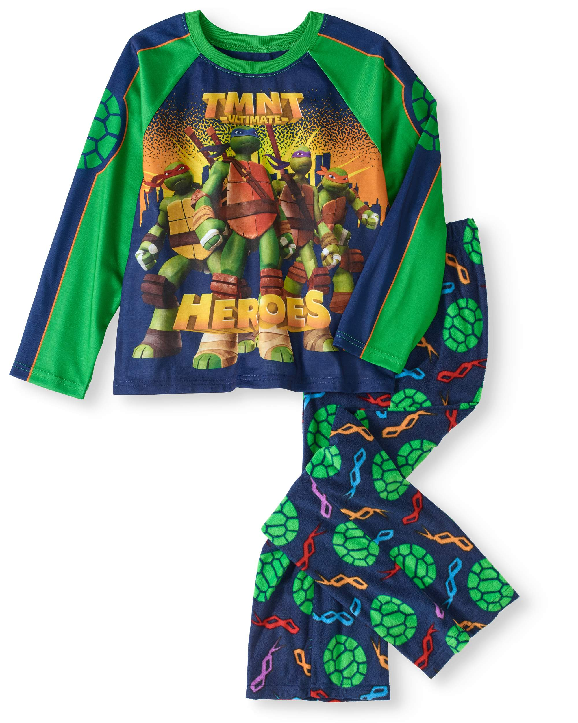 Boys' TMNT Microfleece 2 Piece Pajama Sleep Set (Big Boys & Little Boys)