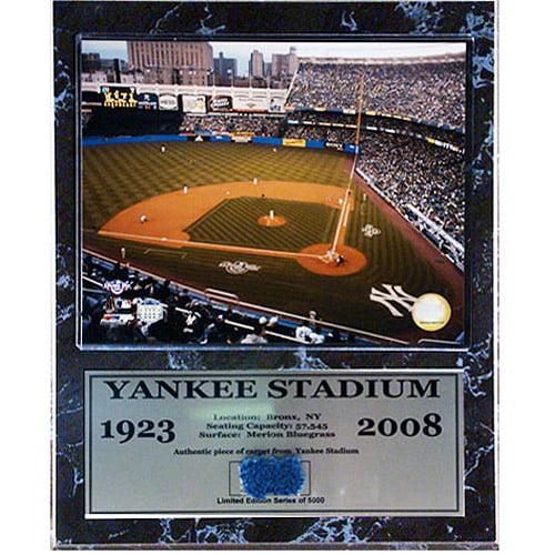 MLB Yankee Stadium Game Used Plaque, 12x15