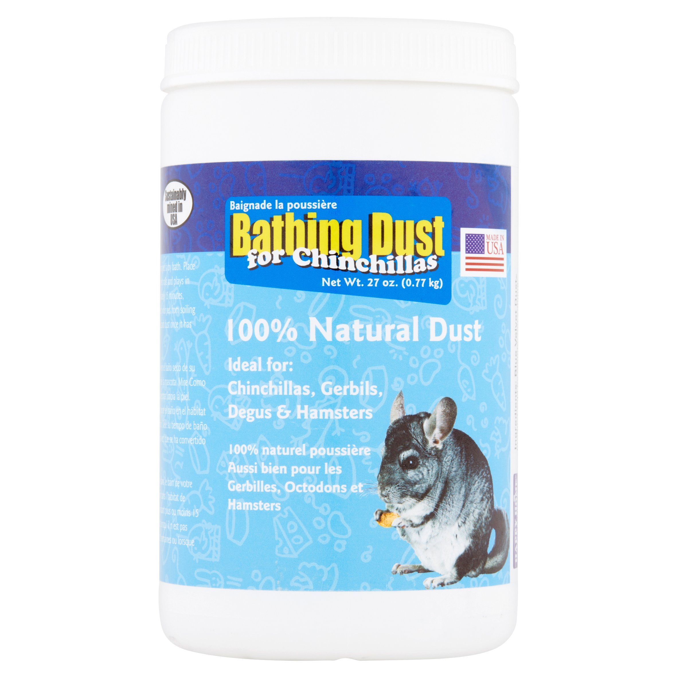 Happy Home Pet Products Bathing Dust for Chinchillas, 27 oz