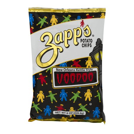 Zapp's New Orlean's Kettle Style Potato Chips Voodoo, 8 0 OZ