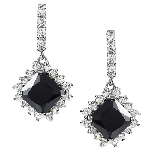Brinley Co. Women's Sterling Silver Colored CZ Drop Earrings