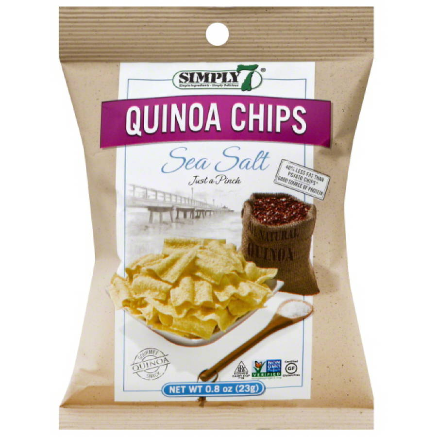 Simply 7 Sea Salt Quinoa Chips, 0.8 oz, (Pack of 24)