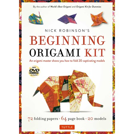 Nick Robinsons Beginning Origami Kit   An Origami Master Shows You How To Fold 20 Captivating Models  Kit With Origami Book  72 High Quality Origami Papers   Dvd
