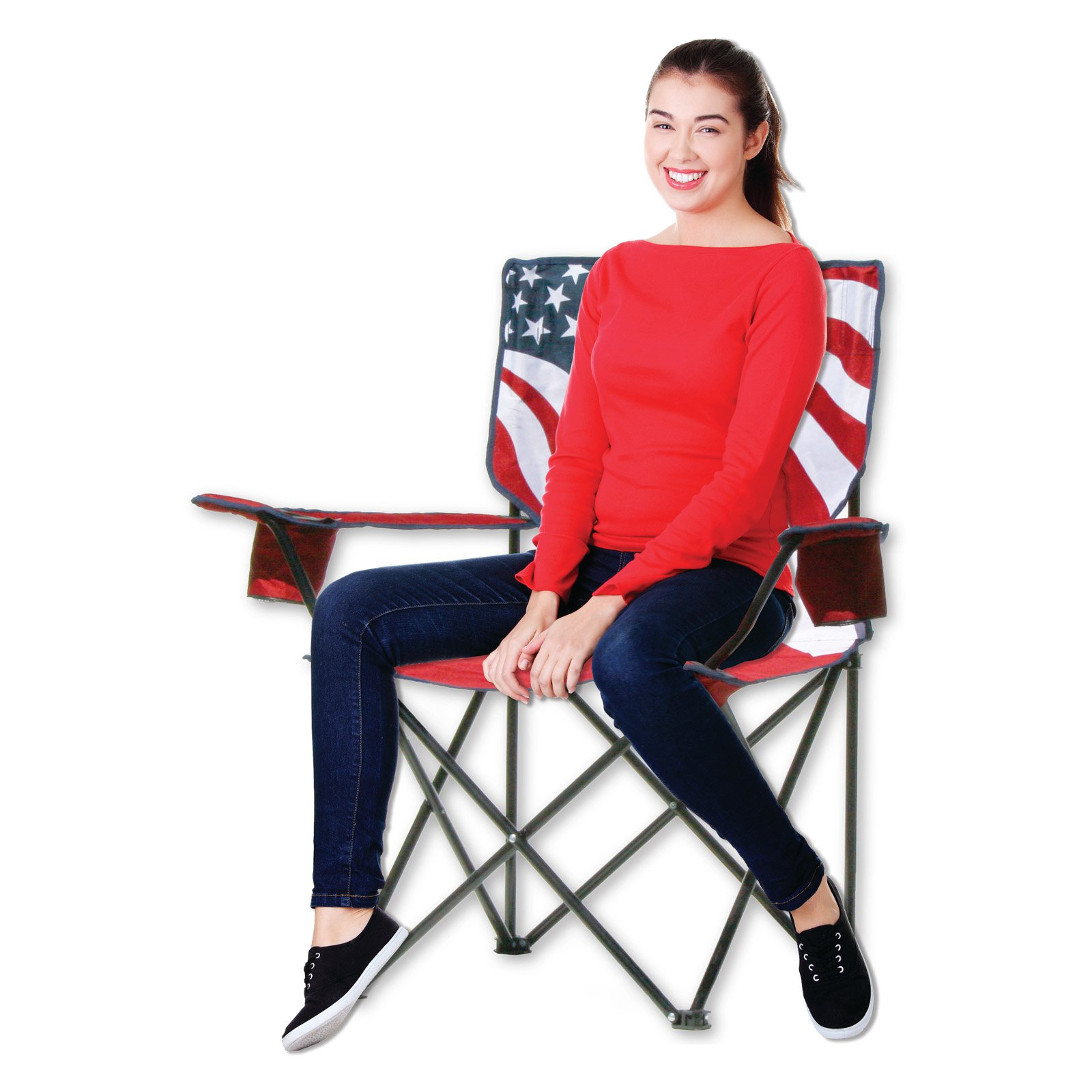 Quik Chair US Flag Folding Armchair