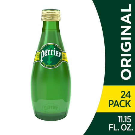 Perrier Carbonated Mineral Water, 11.15 fl oz. Glass Bottles (24 Count)