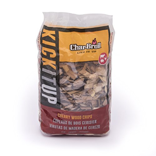 Char-Broil Cherry Wood Smoker Chips, 2-Pound Bag, Wood chips add a great smoky flavor to your food- they burn quickly and work better for shorter smokes By CharBroil from USA