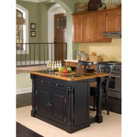 Home Styles Monarch Black and Distressed Oak Kitchen Furniture Collection