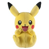 """Pokemon Pikachu Hands on Face Laughing 8"""" Plush Toy"""