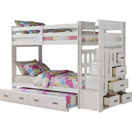 Acme Twin Over Twin Bunk Bed Storage Espresso