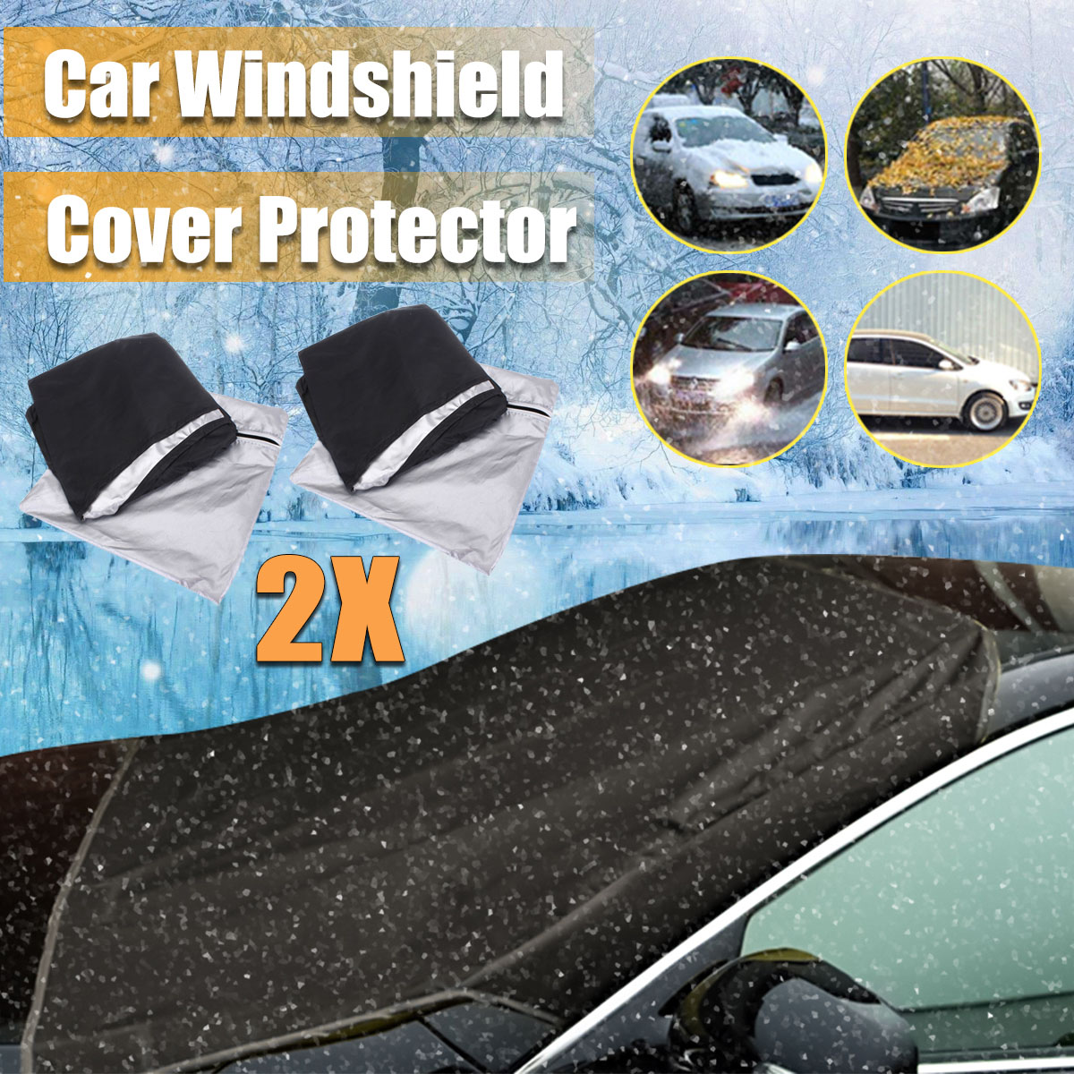 Cuque 2Pcs Universal Car Rear Window Sun Shade Premium Breathable Mesh Sun Shade for Car Truck SUV