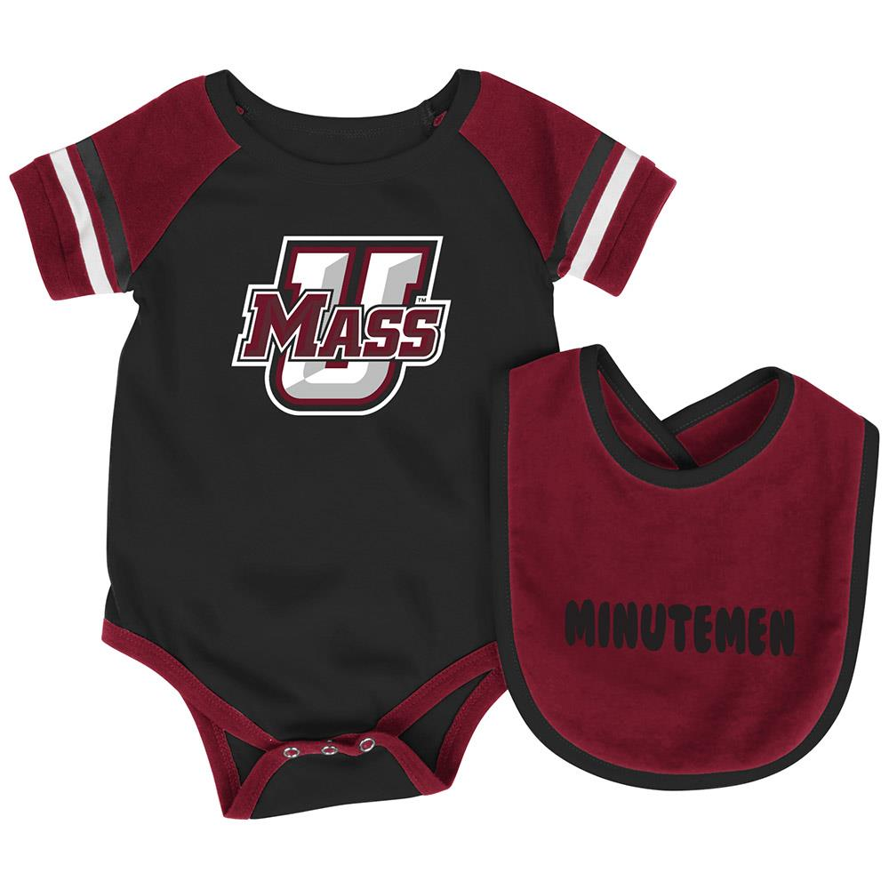 Infant NCAA UMass Minutemen Roll-out Bodysuit and Bib Set by Colosseum